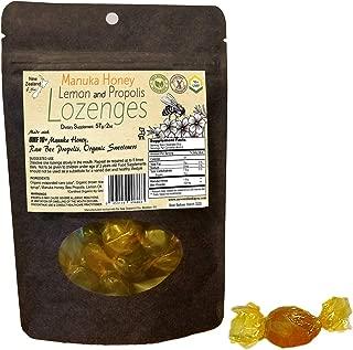 [4-Pack] UMF 10+ Manuka Honey, Lemon and Propolis Lozenges for Throat & Mouth Health and Immune Support, 2oz