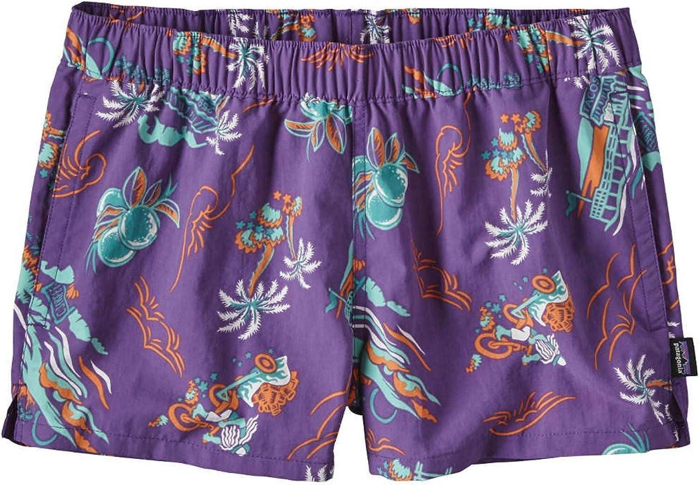 Patagonia Women's Barely Baggies Shorts  C Street  Purple  Large