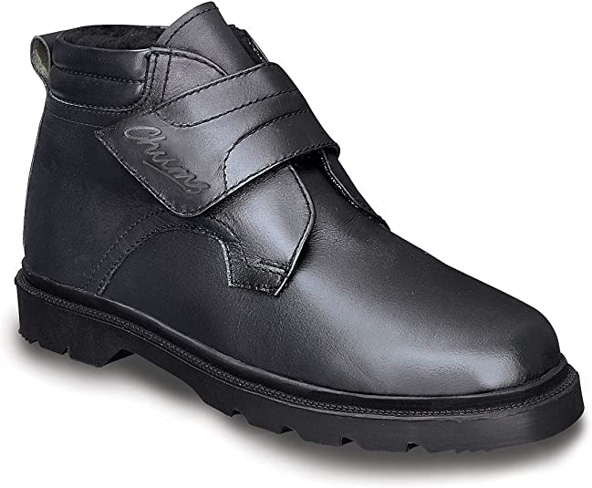 Mens Real Leather Warm Lined Touch