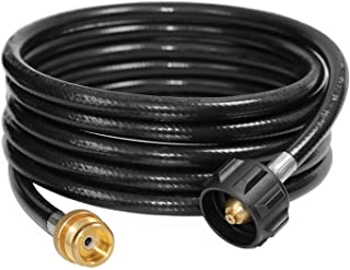 DOZYANT 12 Feet Propane Tank Converter Adapter Hose Assembly Replacement for QCC1 / Type1 LP Gas Tank with Safety Certified Connects Bulk Propane Appliances to 20 LB Propane Cylinder Tank