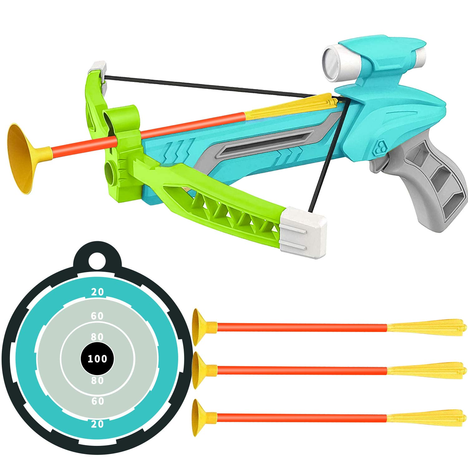 Newooh 6pcs Archery Suction Cup Arrow Children Archery Game Safety Rubber Arrows for Teens Shooting Training