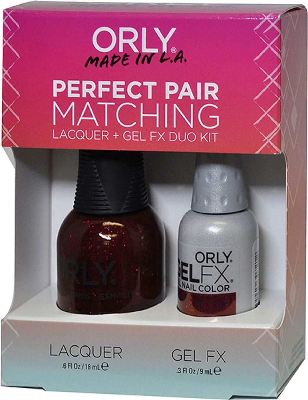 放出ティッシュ部分Orly Nail Lacquer + Gel FX - Perfect Pair Matching DUO - Star Spangled