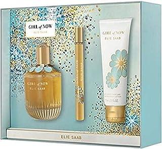 Elie Saab Girl of Now for Women 3 Piece Set (3 Oz Eau De Parfum Spary + 2.5 Oz Scented Body Lotion + 0.33 Oz Eau De Parfum Spary)