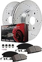 Power Stop K6513 Front & Rear Brake Kit with Drilled/Slotted Brake Rotors and Z23 Evolution Ceramic Brake Pads