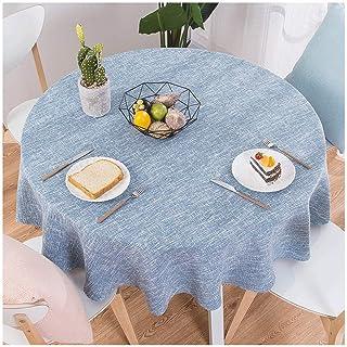 Gamvdout Élégant et Simple Maison Jardin Coton et Lin Petite Table de Table fraîche Rond Tableau Rond Nappe-Nappe Little (...