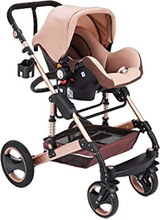 YQLWX Barnvagnar, Bärbar Spädbarn Babyvagn Baby Walker, High View Baby Pram, Barnvagnar, Barnvagnar och barnvagnar