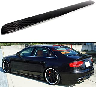 Cuztom Tuning Fits for 2009-2016 Audi A4 S4 B8 Quattro VIP Carbon Fiber Rear Roof Window Spoiler Wing
