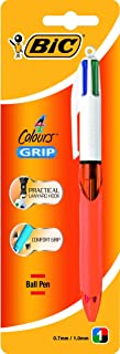 BIC 4 Colours Original Retractable Ball Pens Fine Point (0.8 mm) - Assorted Colours, Pack of 1 Pen (954303)