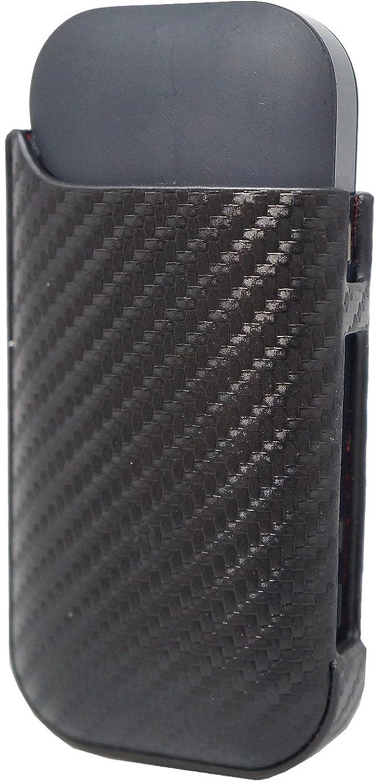 ベッド透過性指紋2.4 Plus カーボンレザー iQOSケース 本革 iQOSケース ブラック ME0119_c1