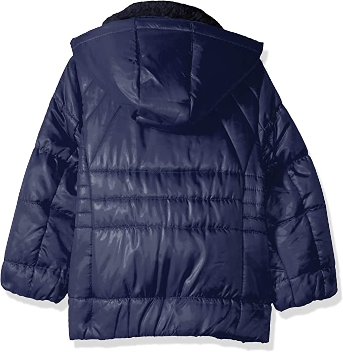 Jessica Simpson Girls Little Warm Winter Coat with Asymetrical Closure