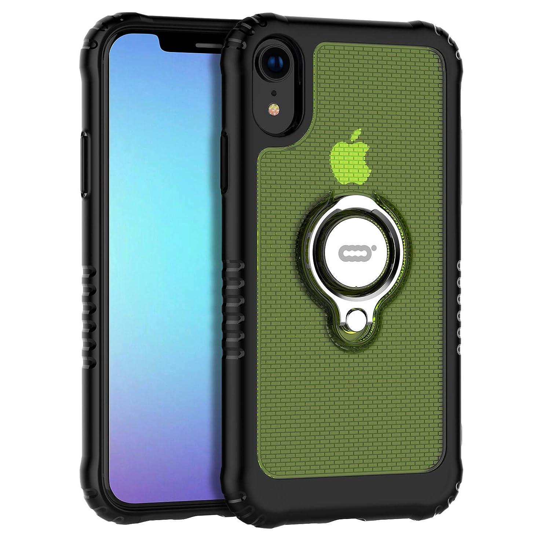 ワイヤー許可する広々としたICONFLANG iPhone XR 対応 ケース リングスタンド付き アイフォンXR用スマホカバーケース 6.1インチ保護ケース(iPhone XR 6.1