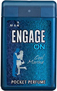 Engage ON Cool Marine Pocket Perfume for Men, 18.4ml