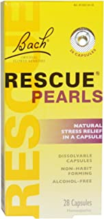 Bach Rescue Pearls Natural Stress Relief ,28 Capsules (Pack of 4)