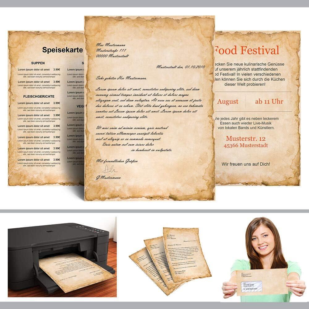 Paper-Media Motif Letter Paper Vintage Antique /& History Motif Paper 100 Sheets DIN A4
