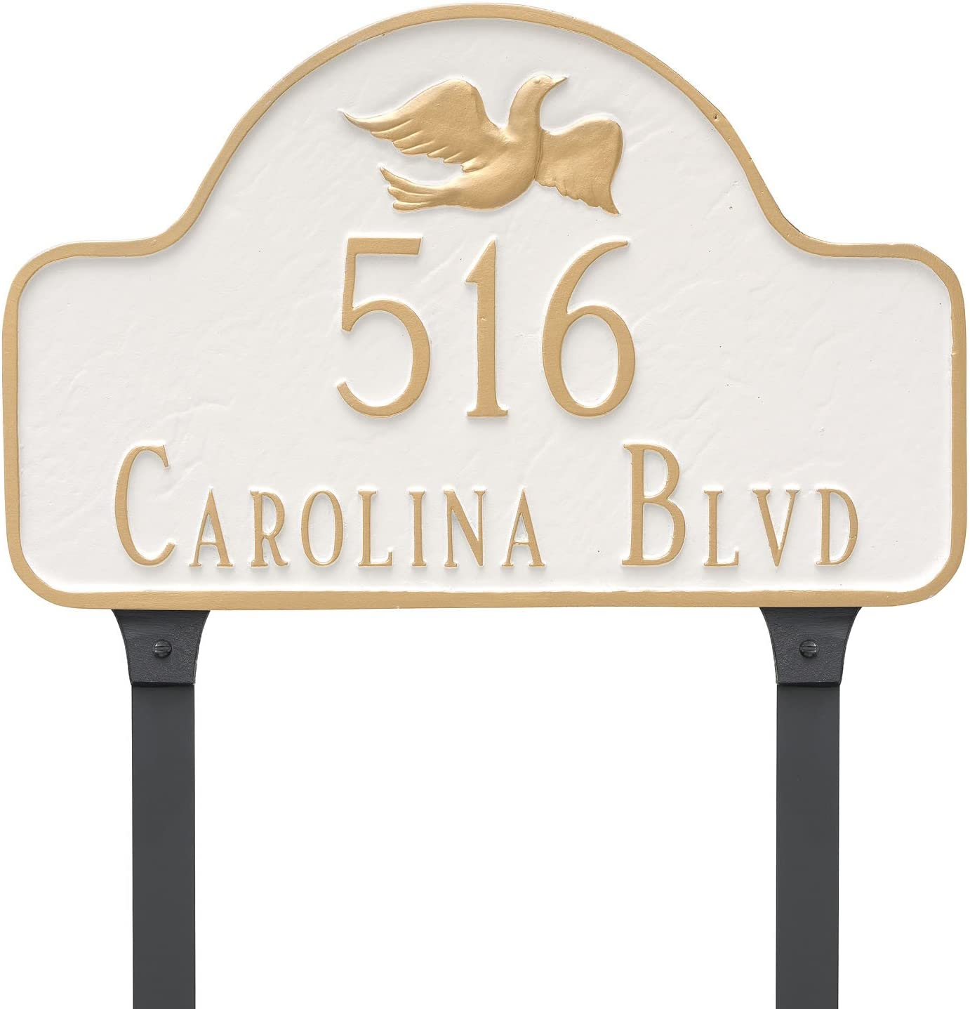 Montague Metal PCS-0084S2-L-ABG Dove Arch Sign New mail order wi Address Plaque Max 52% OFF