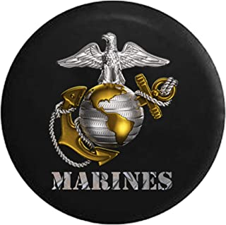 USMC United States Marine Corp Eagle Globe Anchor Emblem Spare Tire Cover fits SUV Camper RV Accessories 32 in