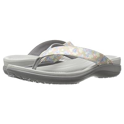 Crocs Capri V Graphic (Floral/Light Grey) Women