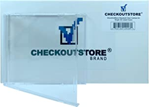 CheckOutStore (25) Standard Single 1-Disc CD Jewel Cases, Unassembled (Carton Only)