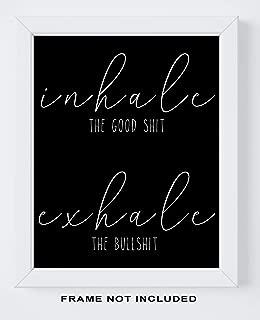 Inhale Exhale Motivational Wall Art - 11x14