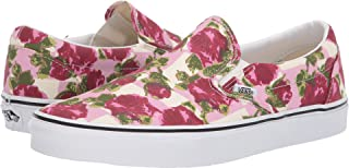 yellow checkerboard vans with flowers