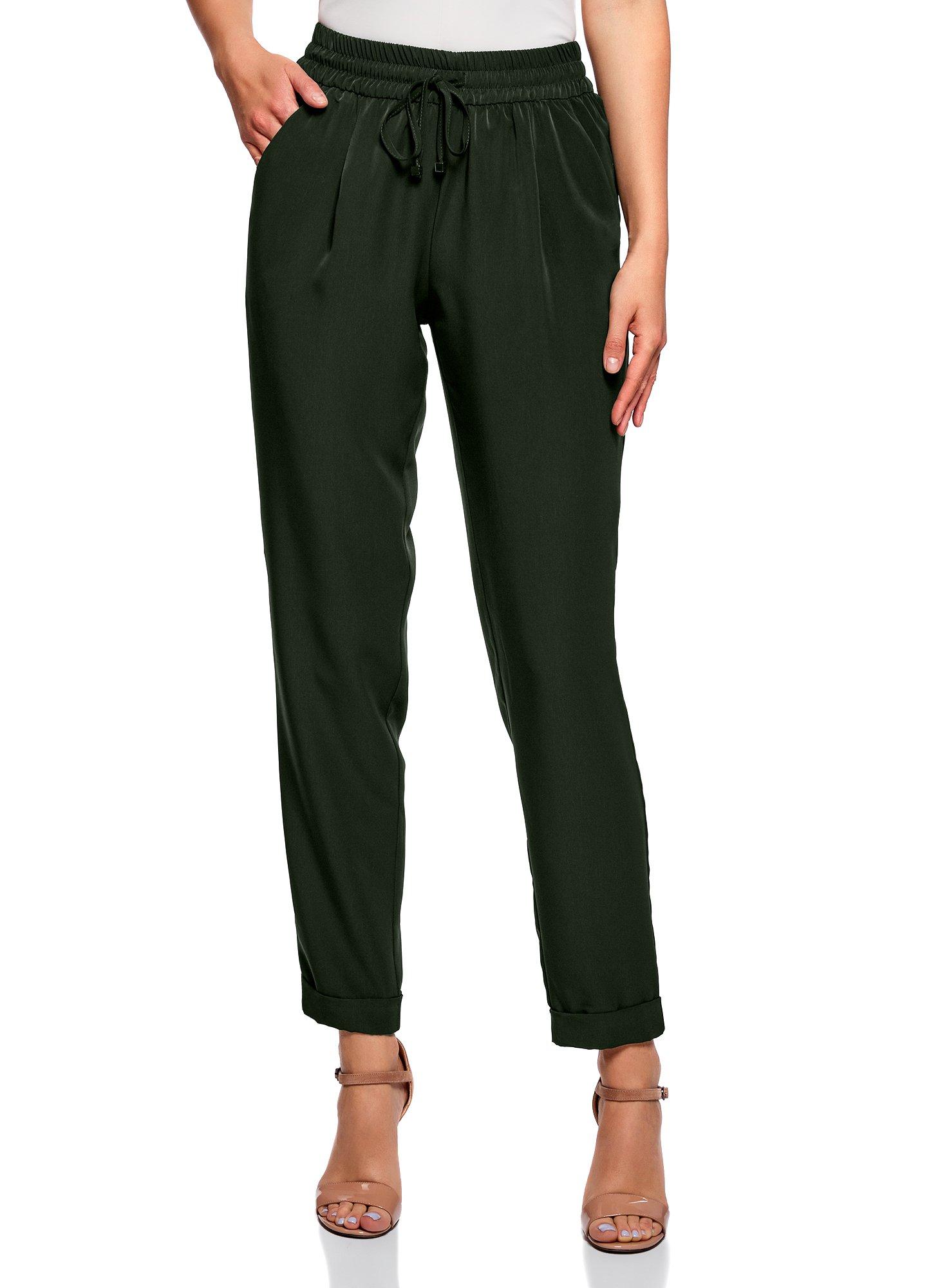Femme Pantalon Léger en Tissu Fluide