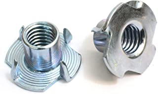 T-Nuts, 4-40, (100 Pack), Threaded Insert, Choose Size/Quantity, by Bolt Dropper, Pronged Tee Nut. (#4-40