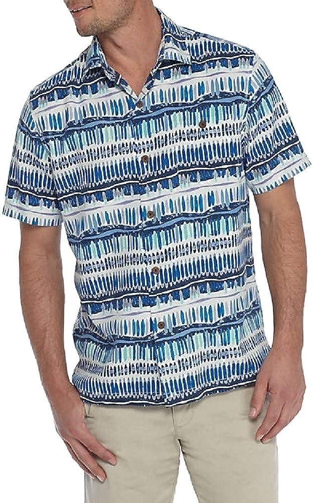 Tommy Bahama Island Zone Silk Blend Geo Surf Camp Shirt