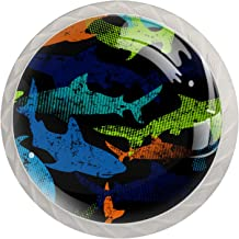 Kleur Haaien 4 stks Kleur Multi-Design Kabinet knoppen, Lade Pull voor Elk Huis, Keuken of Kantoor