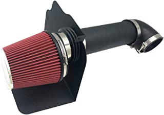 Intake Pipe Perfit Formance Cold Air Intake Kit with Filter 2005-2010 Fit for Dodge/Chrysler (Challenger, Charger, 300) 5.7L 6.1L V8 (Black Tube & Red Filter)