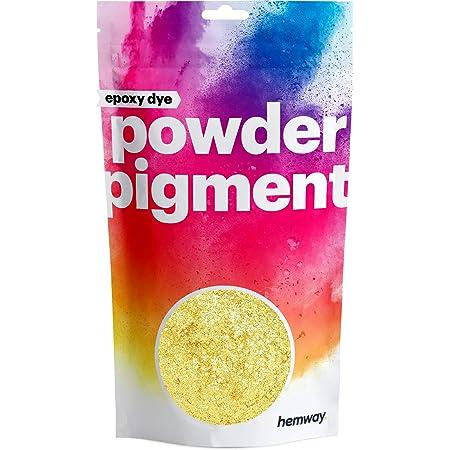Hemway - Pigmento en polvo lujoso, de color metálico y muy brillante, para resina epoxi, pintura de poliuretano, dorado