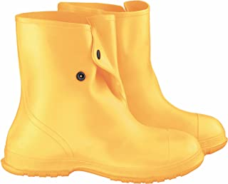 """ONGUARD 88020 Heavy Flex-O-Thane/PVC Men's OverShoe with 4-Way Cleated Outsole, 10"""" Height, Yellow, Size X-Large"""