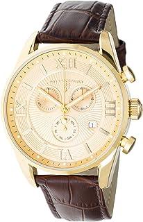 Swiss Legend Men's Belleza Analog Swiss Quartz Watch Gold Stainless Steel Case with Brown Leather Strap 22011-YG-010-BRN