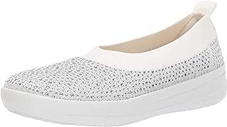 FITFLOP Womens M23 Uberknit Crystal Ballet Flats Grey Size: