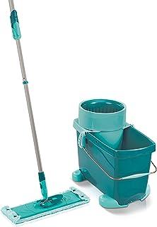 Leifheit Set Clean Twist XL Mobile, kit de nettoyage avec chariot à roulettes, seau et balai essoreur, balai à plat lave-s...