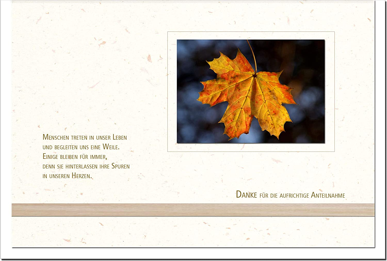 MetALUm Danksagungskarten TRAUER     Blatt   25 Karten   1525054 B01BP99FPU | Elegant Und Würdevoll  2b0eed