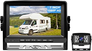 $99 » Antook 1080P Wired Backup Camera with 7 inch Monitor, Rear View Vehicle Reverse Camera System Kit for Truck, RV, Pickup, T...