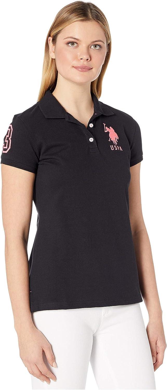 U.S. San Jose Mall Polo Assn. Women's Neon Sleeve free Logos Shirt Short
