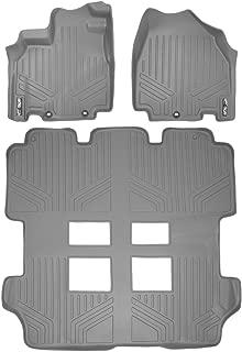 MAXLINER Floor Mats 3 Row Liner Set Grey for 2011-2017 Honda Odyssey