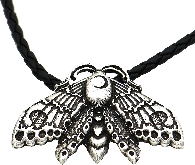 HULKBIDBV Punk Necklace Senior Alloy Death of The Moth Hell Style Pendant Vintage