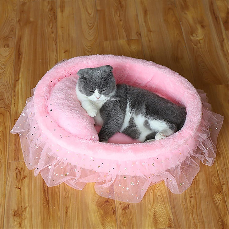 HEHXKJ Pet Bed Long-awaited Princess Kansas City Mall Cat Mat Cushion Nest Bedding Kennel