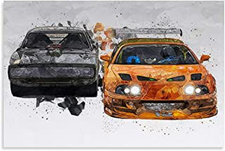 ZHONGJUN JDM Sport Car Poster The Fast and The Furious Canvas Art Poster and Wall Art Picture Print Modern Family Bedroom ...