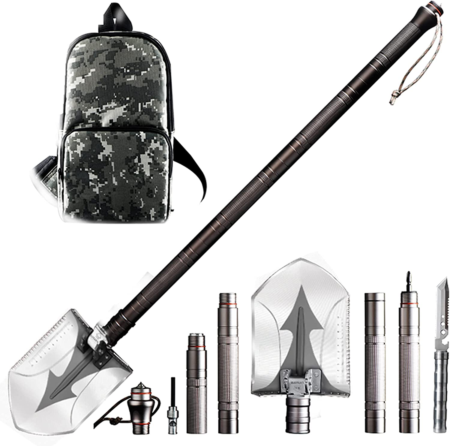 Discount is also underway Survival Shovel High quality new - 18 in Fol Camping Multitool Military 1