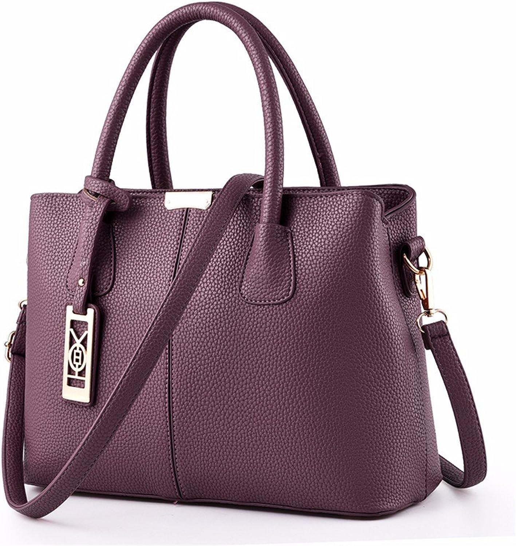 GQFGYYL Frauen - Tasche 2018 Neue Handtasche einheitlichen Schulter schräg Tasche,lila B07H7H8VWH  Prägnante Einfachheit