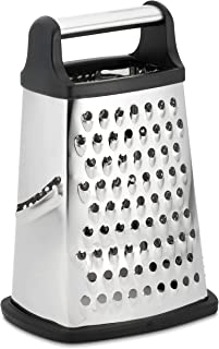 Professional Box Grater, Stainless Steel with 4 Sides, Best for Parmesan Cheese, Vegetables,...