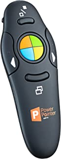 ZETZ Wireless Presenter Remote Control With USB & Laser Pointer   Powerful & Ergonomic PPT Clicker Easy To Use   For Microsoft Power Point Presentations, Excel & Interaction With Crowd