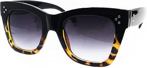 O2 Eyewear SA211 Premium Oversize XXL Women Men Cateye Havana Tilda Shadow Style Fashion Sunglasses