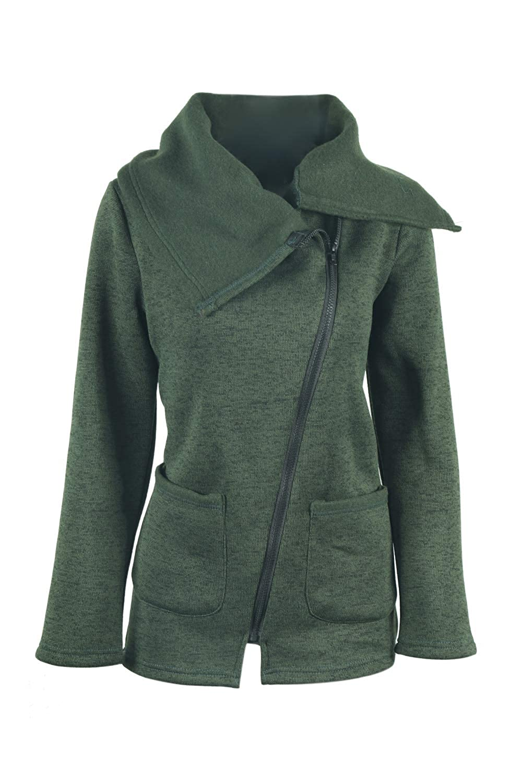 レディース ジャケット コート 暖かい 無地 ポケット 付き 厚い