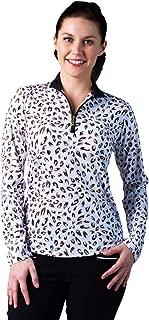 Women's SolCool UV 50 Long Sleeve Print Zip Mock Top