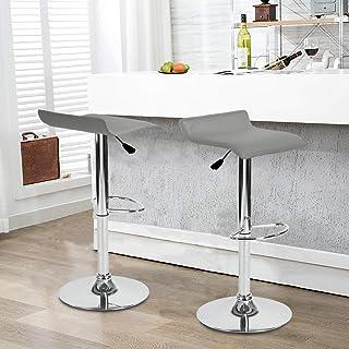 FurnitureR Juego de 2 taburetes de Bar giratorios Ajustables