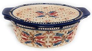 Temp-tations Basketweave 2.0 Qt Oval Baker w/Tab Handles and Lid-It (Tray) (Old World Fireworkfetti)